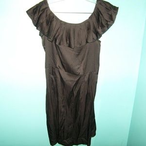 BANANA REPUBLIC Black Sleeveless Dress w/Ruffles